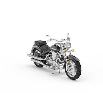 黑色摩托车