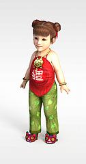 可爱娃娃模型3d模型