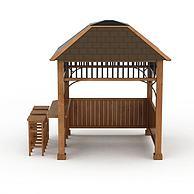 木质凉亭3D模型3d模型