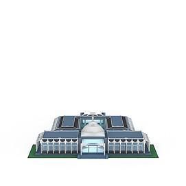 高级体育馆3d模型