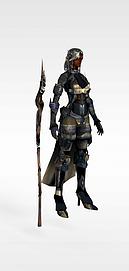 3d<font class='myIsRed'>游戏</font>女战士模型模型