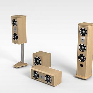 立式音响模型3d模型