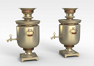 金色啤酒桶模型3d模型