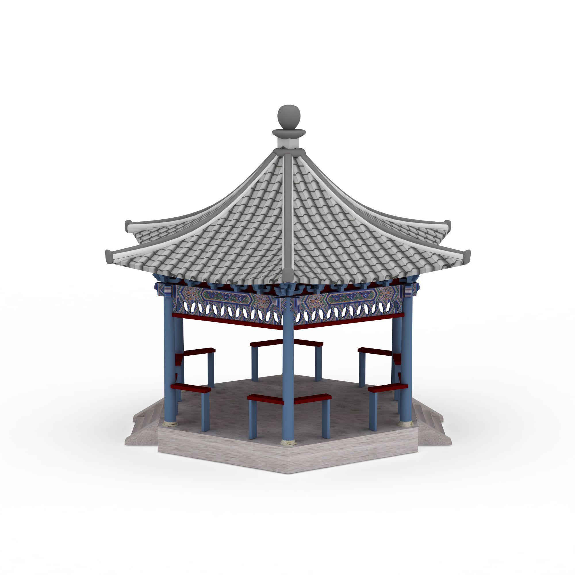 中式六角亭高清图下载