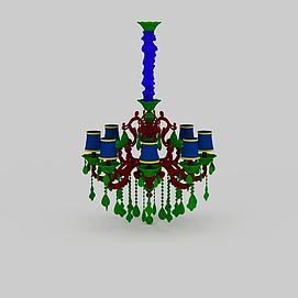 客厅水晶灯3d模型
