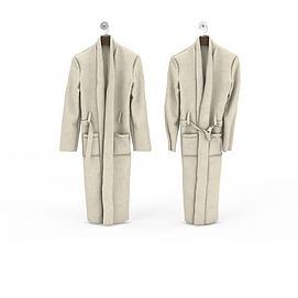 3d男士睡袍模型