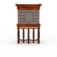 中式复古木柜3D模型3d模型