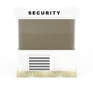 3d白色安檢房模型