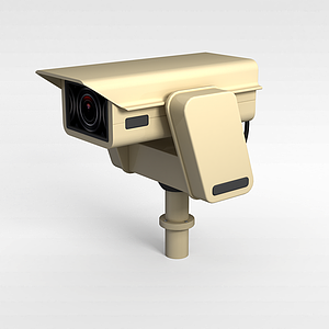 3d现代电子摄像头模型