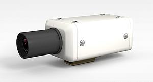 3d四方白色摄像头模型