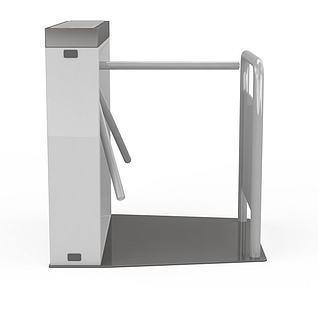 地铁三辊闸3d模型