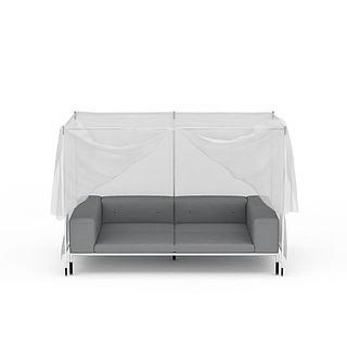 带<font class='myIsRed'>帐篷</font>沙发3d模型