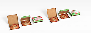 3d外卖匹萨模型