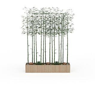 室内竹子3d模型