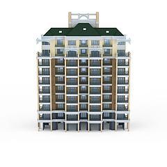 居民住宅楼模型3d模型