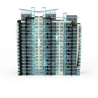 现代大楼建筑3d模型