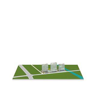 <font class='myIsRed'>现代建筑</font>大楼3d模型