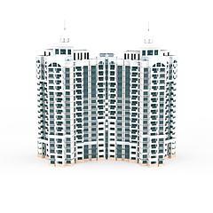 高端住宅楼模型3d模型