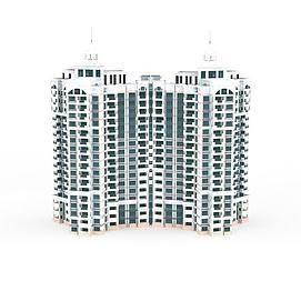 高端住宅楼3d模型