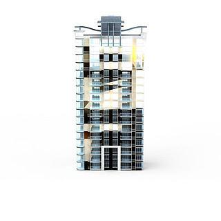现代时尚建筑3d模型