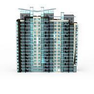 现代时尚建筑3D模型3d模型