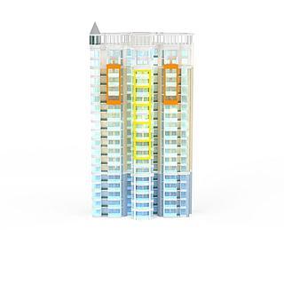 现代个性建筑3d模型