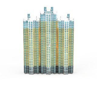 现代住宅建筑3d模型