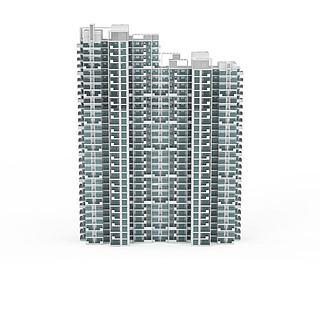 <font class='myIsRed'>现代建筑</font>群3d模型