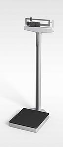 医疗体重秤模型3d模型