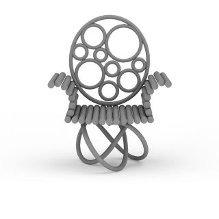 木质艺术公园椅子3d模型