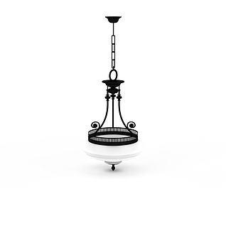 精美铁艺吊灯3d模型