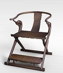 中式实木凳子模型3d模型