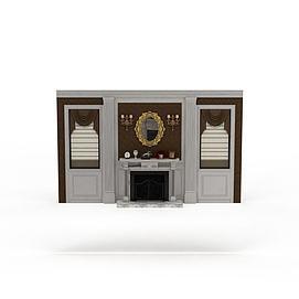 3d边角桌模型