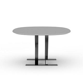 简约办公桌3d模型