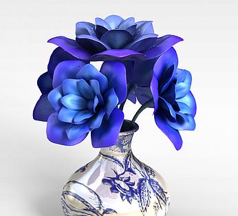 蓝色妖姬插花