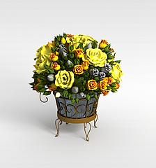 艺术花篮模型3d模型