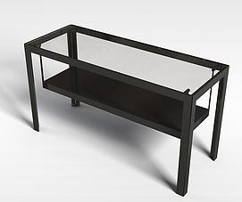 办公玻璃桌3d模型