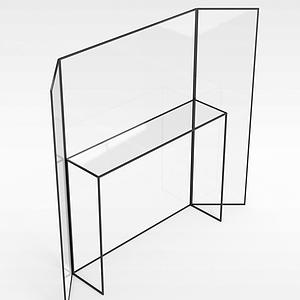 3d屏风玻璃<font class='myIsRed'>展柜</font>模型