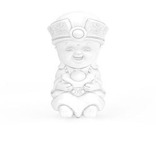 卡通造型石膏佛像3d模型