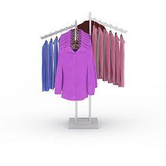 时尚女性外套模型3d模型