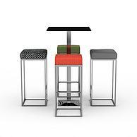 高脚椅组合3D模型3d模型