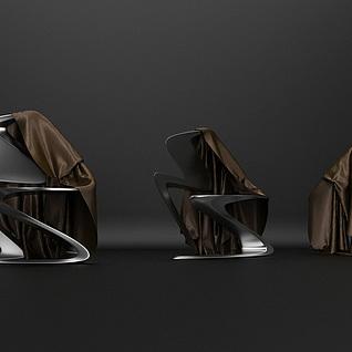Z形椅子3d模型