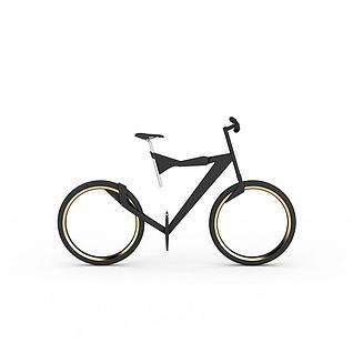 概念自行车3d模型