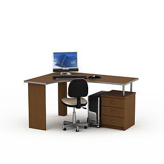 公司办公桌椅3d模型