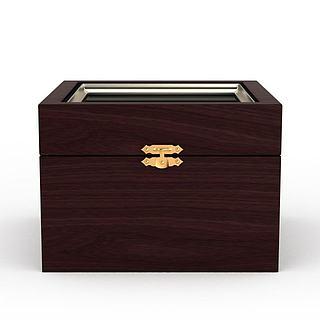 创意木制箱子3d模型