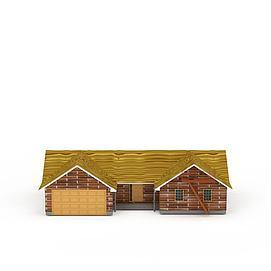 欧式红砖别墅3d模型