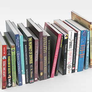 3d图书<font class='myIsRed'>杂志</font>模型
