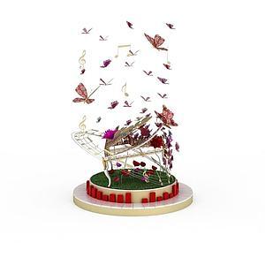 蝶律艺术装置模型3d模型