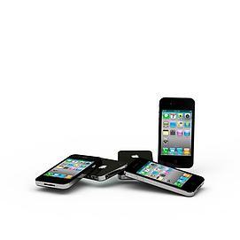黑色苹果<font class='myIsRed'>手机</font>3d模型