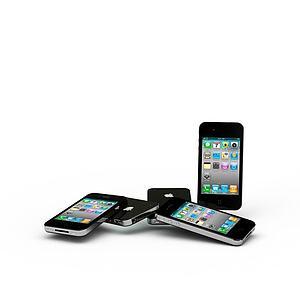 3d黑色蘋果<font class='myIsRed'>手機</font>模型